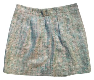 J.Crew Mini Skirt green, white, turquoise