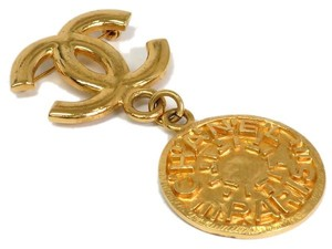 Chanel Auth CHANEL COCO Broach Metal Gold (BF079495)