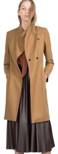 Zara Wool Tan M Nwt Tags New Sold Out Rare Pea Coat