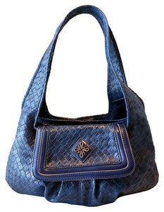 Simply Vera Vera Wang Weave Dual Handles Satchel in Blue