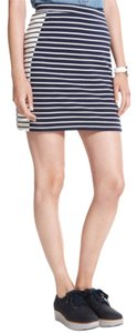 Tommy Hilfiger Mini Skirt Navy Blue & White