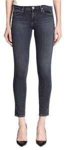 AG Adriano Goldschmied Denim Legging Skinny Blue With Tags Brand New Saks Nordstrom Work Size 30 Size 6 With Tags New Countour Ankle Ac360 Skinny Jeans-Medium Wash