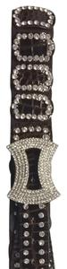 Unique Couture Leather Rhinestone Belt