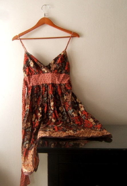 American Rag short dress Brown Summer Floral Size Small Womens Summer on Tradesy