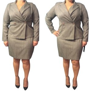 Taupe Skirt Suit