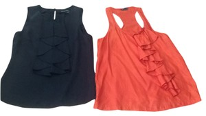 Club Monaco Top Black and orange