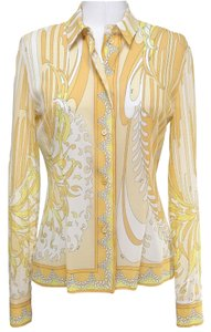 Emilio Pucci Top Yellows, White