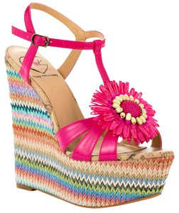 Penny Loves Kenny Billie Fuchsia Patent Wedges