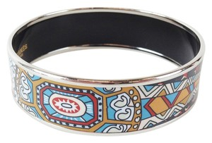 Hermes Hermes Multicolor Printed Enamel 18mm Bangle with Box