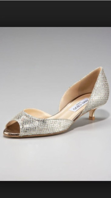 Item - Glitter Kitten Heel D'orsay Pumps Size US 7