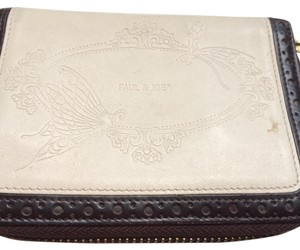 Paul & Joe Paul & Joe White/Brown Leather Wallet