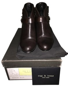 Rag & Bone Bootie Leather Dark Brown Boots