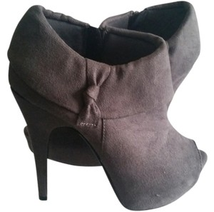 Charlotte Russe Heels Grey Boots