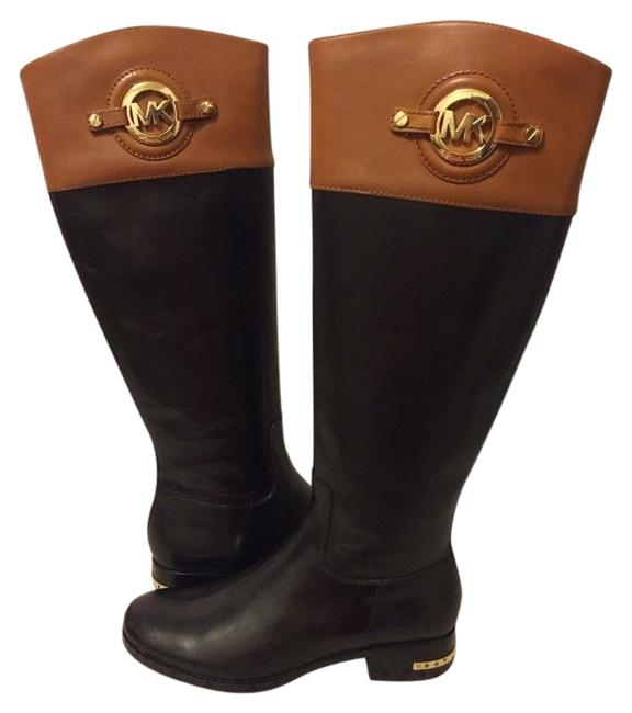 Item - Black and Brown Flat Boots/ Mk Boots/Booties Size US 6 Narrow (Aa, N)