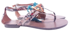 Chinese Laundry Ginger Snap Snake Print Sandals Size 8.5 Reptile Flats