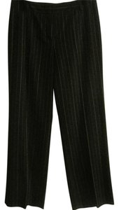 Josephine Chaus Straight Pants Black with White Stripes