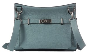 Hermès Sky Blue Clemence Leather Cross Body Bag