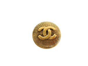 Chanel Auth CHANEL COCO Mark Broach Metal Gold (BF095760)