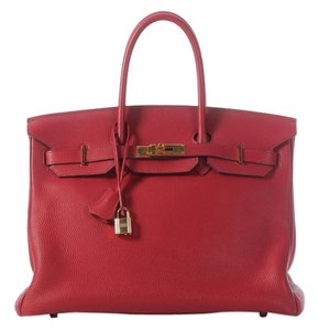 Hermès Red Birkin Togo Leather Satchel