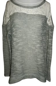 Maurices Grey White Sweater