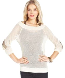Marilyn Monroe for Macy's Plaid Cream Gold Sweater