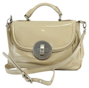 Marc by Marc Jacobs Tan Patent Leather Cross Body Bag