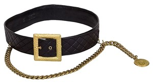 Chanel Chanel Quilted Leather Belt with Chain Drop