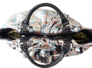 orYANY Reversible Leather Satchel in Multi Sequin's