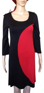 Diane von Furstenberg Color-blocking Mod Wool Dvf Shift Dress