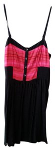 Express short dress black with red detail on Tradesy