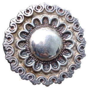 Other Vintage 1800s Sterling Silver Victorian Pin Brooch Antique Floral