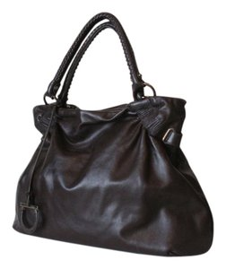 Salvatore Ferragamo Satchel Mocha Shoulder Bag