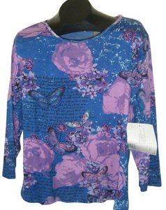 Jane Ashley Pxl Top BLUE & PURPLE