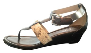 Coach Black and Tan Sandals