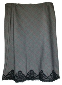 Speechless Lace Skirt Grey plaid