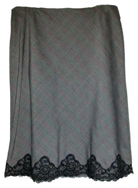 Preload https://item5.tradesy.com/images/speechless-lace-trim-skirt-grey-plaid-1121939-0-0.jpg?width=400&height=650