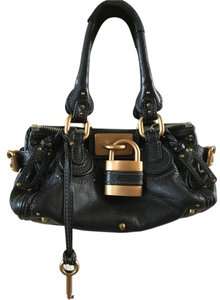 Chloé Fashionable Soft Leather Lock And Key Design Shoulder Bag