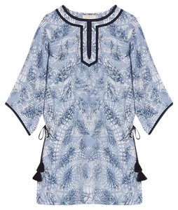 Tory Burch Baltic Sea Dream Catcher Cover Up Long Belted Tunic
