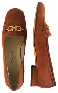 Salvatore Ferragamo Orange Pumps