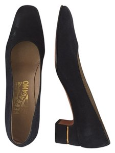 Salvatore Ferragamo Navy Pumps