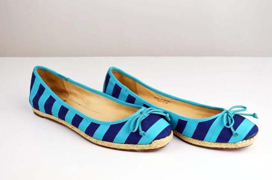 Kate Spade Turquoise, Navy Flats