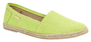 KAANAS Michael Kors Coach Green Lime Flats