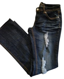 Almost Famous Clothing Straight Leg Jeans-Distressed
