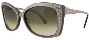 Swarovski Swarovski Metallic Grey Sunglasses