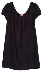 Juicy Couture short dress Black Embroidered Tunic Cotton on Tradesy