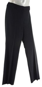 Chanel Unlined Wool Straight Pants Black