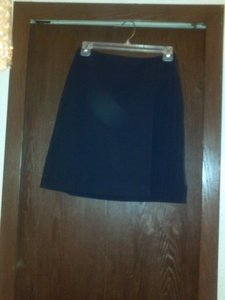 The Limited Strecthy Fabric Skirt Navy blue w/ white pinstripe