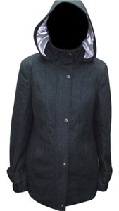 Calvin Klein 648396 Wool Wool Wool Jacket Hooded Hooded Jacket Gray Wool Gray Jacket Gray Peacoat Coat