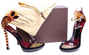 Louis Vuitton Ankle Strap Sandal Mulitcolor Multi Platforms
