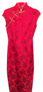 Other Qipao Qipao Chinese Chinese Wedding Long Silk Dragon Asian Wedding Cheongsam Dress